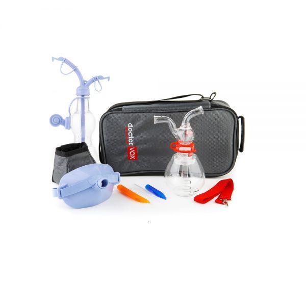 doctorvox voice mask ultra set: doctorvox apparatus, thermos, mouthpieces, maskvox, pocketvox, a special bottle designed for the pocketvox